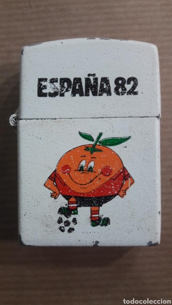 MUNDIAL FÚTBOL ESPAÑA 82 NARANJITO MECHERO TUKO (TIPO ZIPPO) (Coleccionismo Deportivo - Merchandising y Mascotas - Futbol)