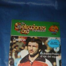 Coleccionismo deportivo: MUNDIAL DE ESPAÑA - 24 SELECCIONES DE ORO - AUSTRIA. Lote 182400410