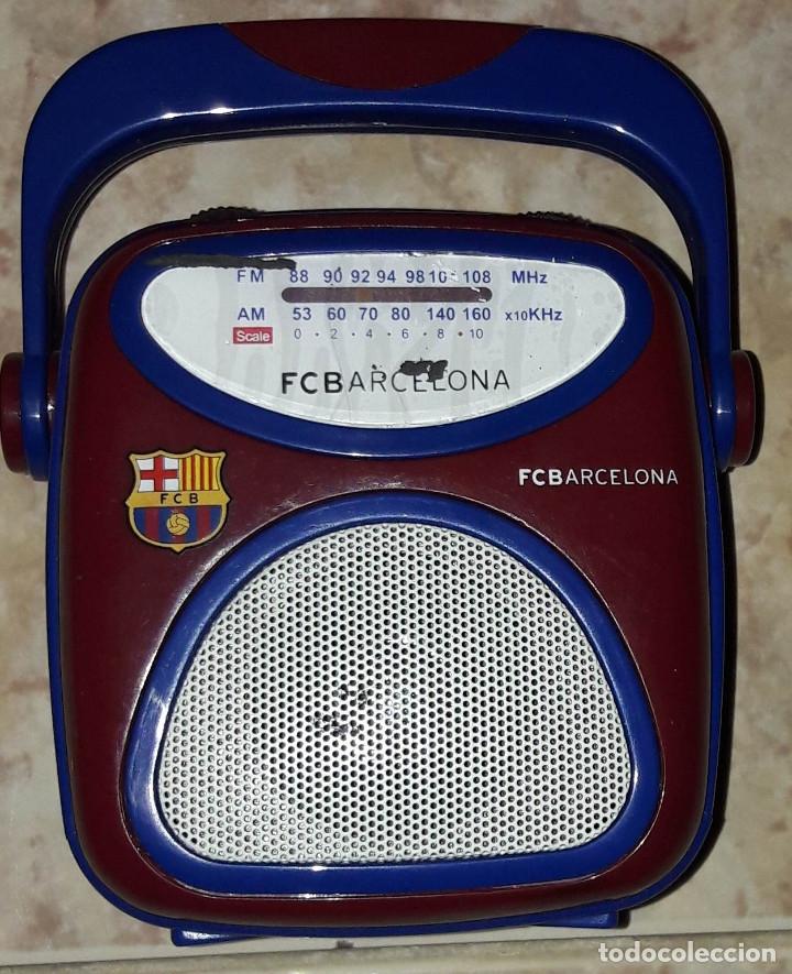 RADIO FC BARCELONA BARÇA FUCIONA RADIO PEQUEÑA (Coleccionismo Deportivo - Merchandising y Mascotas - Futbol)