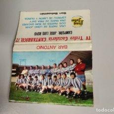 Coleccionismo deportivo: CERILLAS REAL SOCIEDAD FUTBOL SAN SEBASTIAN DONOSTI. Lote 182957787