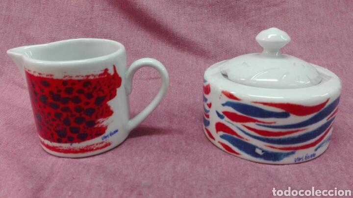 Coleccionismo deportivo: Juego de café de porcelana del F.C. Barcelona - Foto 2 - 183554740