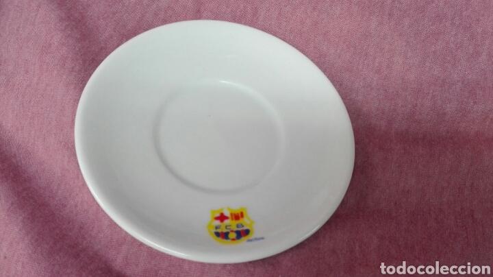 Coleccionismo deportivo: Juego de café de porcelana del F.C. Barcelona - Foto 4 - 183554740