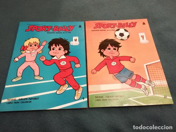 SPORT-BILLY MASCOTA OFICIAL DE LA FIFA Nº 1 Y 2- LIBRO PARA COLOREAR -1982 (Coleccionismo Deportivo - Merchandising y Mascotas - Futbol)