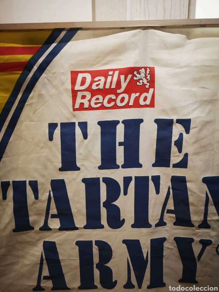 Coleccionismo deportivo: 150 x 90 the tartan Army daily Records bandera - Foto 3 - 183851333