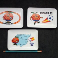 Coleccionismo deportivo: LOTE DE CENICEROS. MUNDIAL ESPAÑA 82. NARANJITO. Lote 184262416
