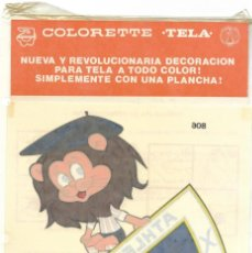 Coleccionismo deportivo: ATHLETIC DE BILBAO - PEGATINA PARA TELA CON PLANCHA COLORETTE AÑOS 70 SIN ABRIR. Lote 185740956