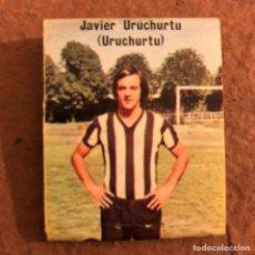 "Coleccionismo deportivo: JAVIER URUCHURTU ""URUCHURTU"". CAJETILLA DE CERILLAS DEL BARACALDO C.F. TEMPORADA 1973/74.. Lote 186111328"