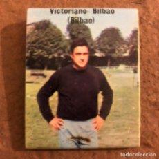 """Coleccionismo deportivo: VICTORIANO BILBAO """"BILBAO"""". CAJETILLA DE CERILLAS DEL BARACALDO C.F. TEMPORADA 1973/74.. Lote 186111468"""