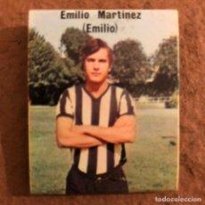 """Coleccionismo deportivo: EMILIO MARTÍNEZ """"EMILIO"""". CAJETILLA DE CERILLAS DEL BARACALDO C.F. TEMPORADA 1973/74.. Lote 186111620"""