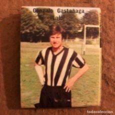 """Coleccionismo deportivo: GONZALO GASTAÑAGA """"LALO"""". CAJETILLA DE CERILLAS DEL BARACALDO C.F. TEMPORADA 1973/74.. Lote 186111682"""