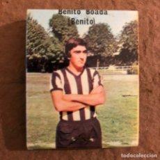 """Coleccionismo deportivo: JUAN JOSÉ BENITO BOADA """"BENITO"""". CAJETILLA DE CERILLAS DEL BARACALDO C.F. TEMPORADA 1973/74. Lote 186111775"""