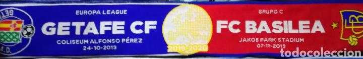 ESPAÑA SUIZA BUFANDA OFICIAL ORIGINAL GETAFE CLUB DE FÚTBOL BASILEA UEFA EUROPA LEAGUE 2019-2020 (Coleccionismo Deportivo - Merchandising y Mascotas - Futbol)