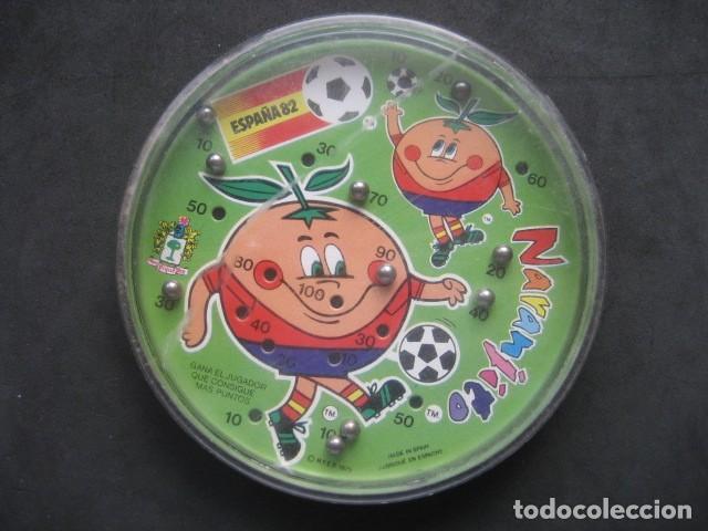 JUEGO DE BOLAS. MUNDIAL DE FUTBOL ESPAÑA 1982. NARANJITO (Coleccionismo Deportivo - Merchandising y Mascotas - Futbol)