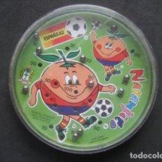 Coleccionismo deportivo: JUEGO DE BOLAS. MUNDIAL DE FUTBOL ESPAÑA 1982. NARANJITO. Lote 187205686
