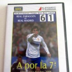 Colecionismo desportivo: DVD REAL ZARAGOZA 6 REAL MADRID 1 SEMIFINALES COPA REY 2006 EDICION COLECCIONISTA. Lote 187539885