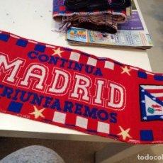 Coleccionismo deportivo: G-VALRMA LOTE DE 2 BUFANDA DE FUTBOL DEL ATLETICO DE MADRID. Lote 199703942