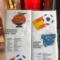 Coleccionismo deportivo: COJIN MUNDIAL DE FUTBOL ESPAÑA 82 - MEDIDA ABIERTO 64X37 CM. Lote 189324295