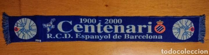 BUFANDA R.C.D. ESPANYOL. CENTENARI. 2000. (Coleccionismo Deportivo - Merchandising y Mascotas - Futbol)