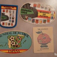 Coleccionismo deportivo: LOTE PEGATINAS ADHESIVOS MUNDIAL DE FUTBOL ESPAÑA 82 NARANJITO 1982 REAL MADRID BARCELONA VALENCIA. Lote 189740986