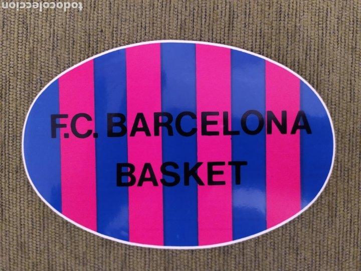 Coleccionismo deportivo: 2 PEGATINAS. ESCUDO BARÇA Y BASKET FC BARCELONA. - Foto 2 - 190104356
