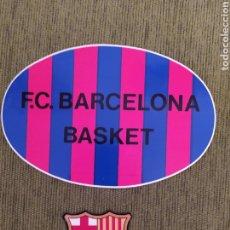 Coleccionismo deportivo: 2 PEGATINAS. ESCUDO BARÇA Y BASKET FC BARCELONA.. Lote 190104356