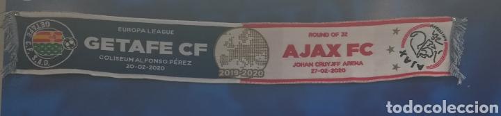 ESPAÑA HOLANDA BUFANDA OFICIAL ORIGINAL GETAFE CLUB DE FÚTBOL AJAX UEFA EUROPA LEAGUE 2019-2020 (Coleccionismo Deportivo - Merchandising y Mascotas - Futbol)