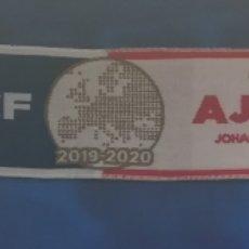 Coleccionismo deportivo: ESPAÑA HOLANDA BUFANDA OFICIAL ORIGINAL GETAFE CLUB DE FÚTBOL AJAX UEFA EUROPA LEAGUE 2019-2020. Lote 190348208