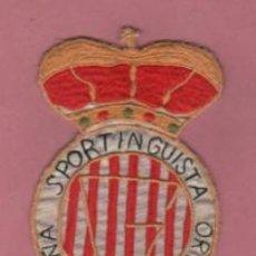 Coleccionismo deportivo: VIEJA FELPA BORDADA ROPA - DE FUTBOL - DE LA PEÑA SPORTINGUISTA ORTIZ - ESPORTING DE GIJÓN. Lote 190358403