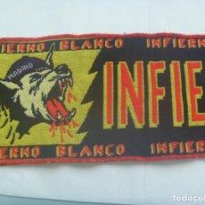 Coleccionismo deportivo: BUFANDA DE ULTRAS DE FUTBOL DEL REAL MADRID : INFIERNO BLANCO. Lote 190905372
