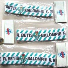 Collectionnisme sportif: LOTE REAL BETIS BALOMPIE DE 3 CINTAS DE PELO SIN ESTRENAR EN SU BOLSA SET VER FOTO. Lote 191190452