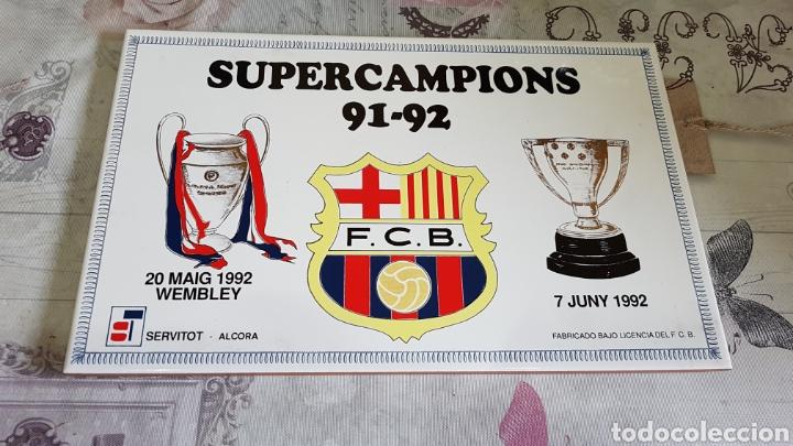 AZULEJO SUPERCAMPIONS 91-92 F. C. BARCELONA (Coleccionismo Deportivo - Merchandising y Mascotas - Futbol)