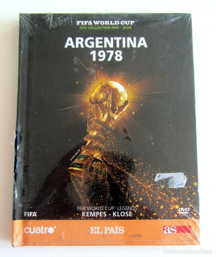 LIBRO DVD MUNDIAL FUTBOL ARGENTINA 1978 COLECCION FIFA WORLD CUP CUATRO-EL PAIS-DIARIO AS KEMPES (Coleccionismo Deportivo - Merchandising y Mascotas - Futbol)