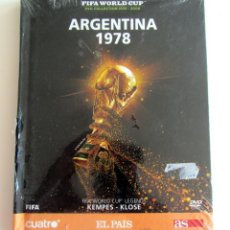Coleccionismo deportivo: LIBRO DVD MUNDIAL FUTBOL ARGENTINA 1978 COLECCION FIFA WORLD CUP CUATRO-EL PAIS-DIARIO AS KEMPES. Lote 192063595