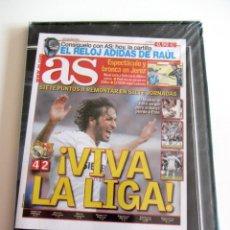 Coleccionismo deportivo: DVD AS - REAL MADRID 4 BARCELONA FC 2 CLÁSICOS DE LEYENDA FÚTBOL DEPORTE LIGA AÑO 2005 PARTIDO . Lote 192072395