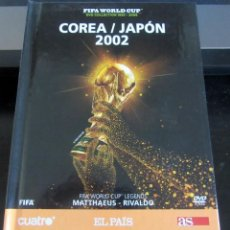 Coleccionismo deportivo: LIBRO DVD MUNDIAL FUTBOL COREA JAPON 2002 FIFA WORLD CUP LEGENDS MATTAEUS RIVALDO . Lote 192733557