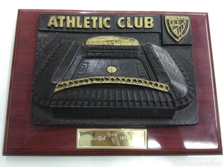 CUADRO ANTIGUO ESTADIO SAN MAMES EN RELIEVE ATHLETIC DE BILBAO FUTBOL PAIS VASCO (Coleccionismo Deportivo - Merchandising y Mascotas - Futbol)