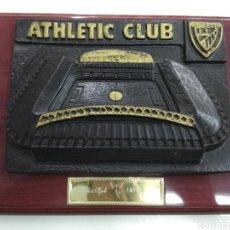 Coleccionismo deportivo: CUADRO ANTIGUO ESTADIO SAN MAMES EN RELIEVE ATHLETIC DE BILBAO FUTBOL PAIS VASCO. Lote 193254193