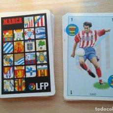 Coleccionismo deportivo: BARAJAS NAIPES FUTBOL - MARCA - LFP -PRIMERA DIVISION 1998-99 COMPLETA 40 CARTAS . Lote 193755502