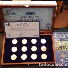 Coleccionismo deportivo: COLECCIÓN DE MONEDAS DEL CENTENARIO DEL REAL MADRID 1902-2002, DE MARCA. Lote 194105586
