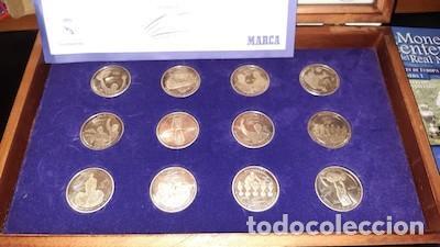 Coleccionismo deportivo: COLECCIÓN DE MONEDAS DEL CENTENARIO DEL REAL MADRID 1902-2002, DE MARCA - Foto 2 - 194105586