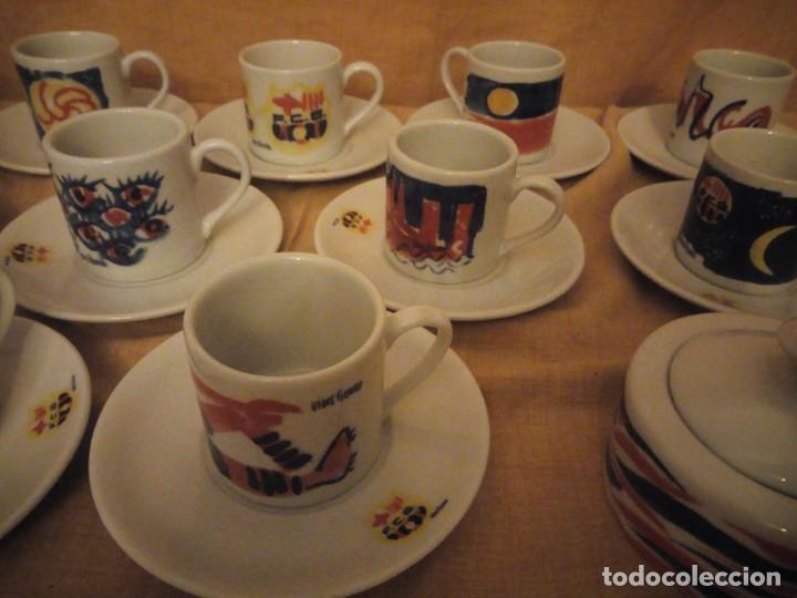 Coleccionismo deportivo: Colección completa del juego de café del centenario del FC Barcelona. Autor Vives Ferro - Foto 5 - 194241148
