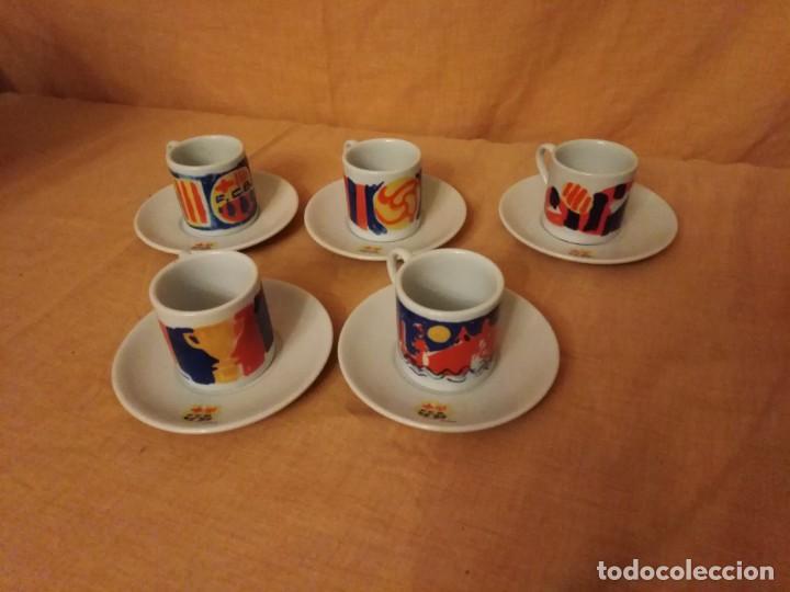 JUEGO DE CAFE DE BARCELONA FIRMADO POR FIERRO (Coleccionismo Deportivo - Merchandising y Mascotas - Futbol)