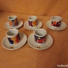 Coleccionismo deportivo: JUEGO DE CAFE DE BARCELONA FIRMADO POR FIERRO. Lote 194329464