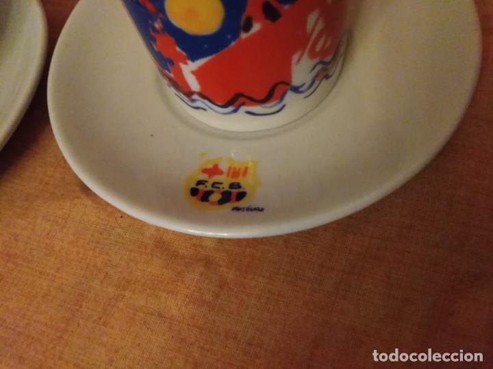 Coleccionismo deportivo: Juego de cafe de barcelona firmado por fierro - Foto 2 - 194329464