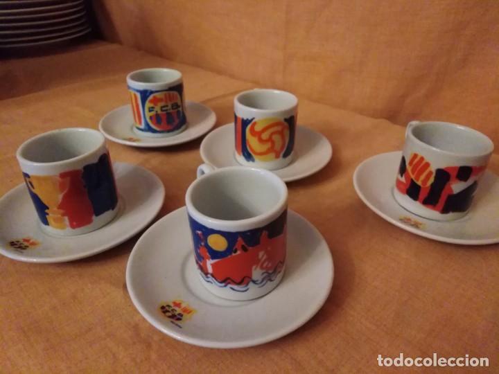 Coleccionismo deportivo: Juego de cafe de barcelona firmado por fierro - Foto 3 - 194329464
