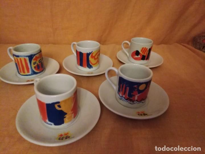 Coleccionismo deportivo: Juego de cafe de barcelona firmado por fierro - Foto 5 - 194329464