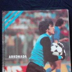 Coleccionismo deportivo: LIBRETA ESPIRAL ARKONADA SELECC.ESPAÑOLA. Lote 194692420