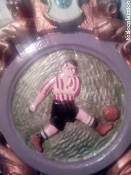 Coleccionismo deportivo: vieja Cartela de yeso para calendario futbol tarrasa - J,T. terrassa juventut ? - Foto 2 - 194903736