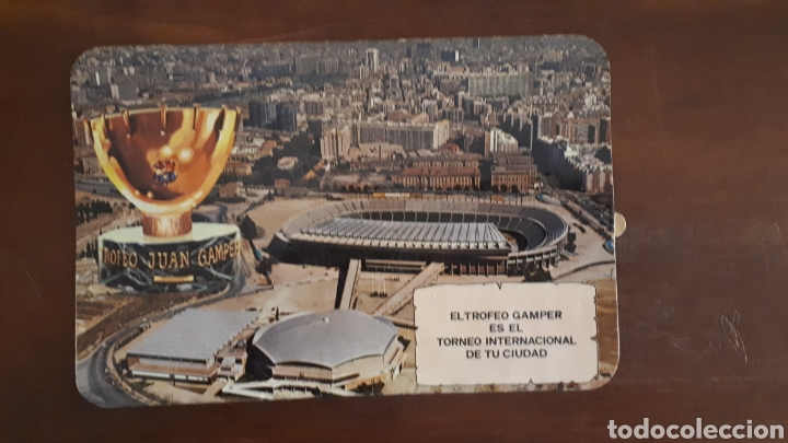 ANTIGUA PEGATINA EL TROFEO GAMPER ES EL TORNEO INTERNACIONAL DE TU CIUDAD (Coleccionismo Deportivo - Merchandising y Mascotas - Futbol)