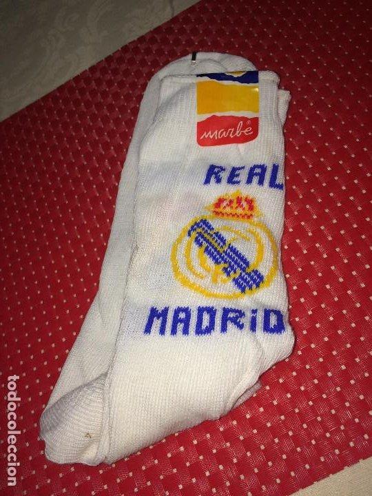 REAL MADRID - CALCETINES MARBE - ALGODON - A ESTRENAR - SANTO DOMINGO DE LA CALZADA ( LA RIOJA ) (Coleccionismo Deportivo - Merchandising y Mascotas - Futbol)